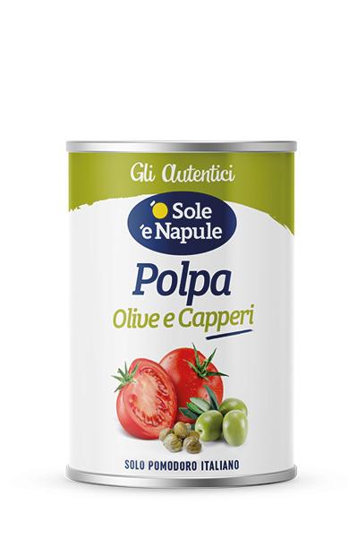 Polpa olive e capperi Latta 400 g