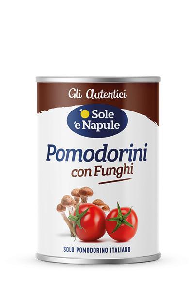 Pomodorini con funghi Latta 400 g
