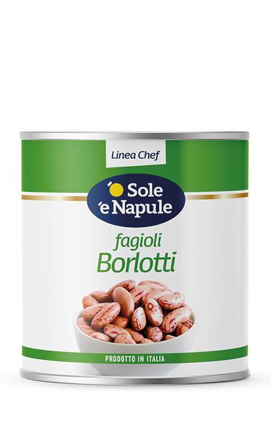 Fagioli Borlotti Latta 2,5 Kg